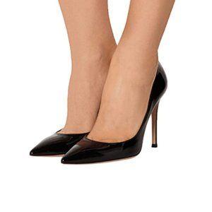 FSJ Black Pointed Toe High Heel Pump